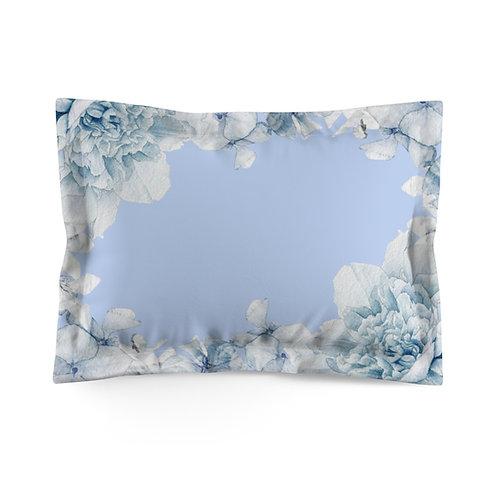 Hydrangea on  Lt. Blue Microfiber Pillow Sham