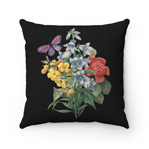Old Fashioned Bouquet Spun Polyester Square Pillow
