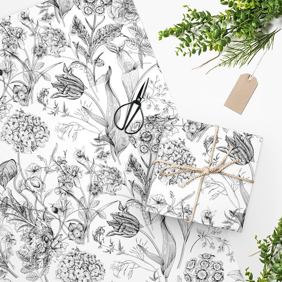 Black and White Bird Wrapping Paper