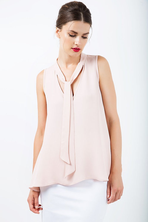 Sleeveless Tie Detail Top