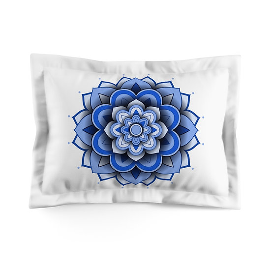 3D Blue Mandala V2 Microfiber Pillow Sham