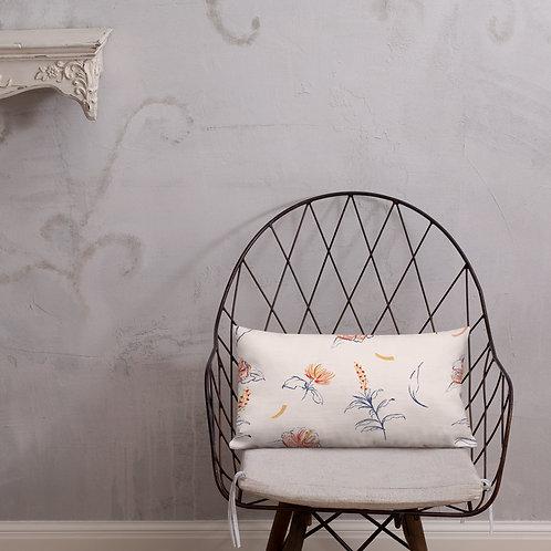 Pink Garden Drawing Premium Pillows