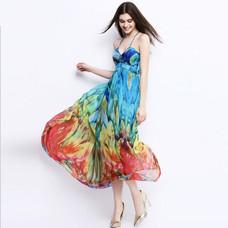 New-100-Pure-Silk-Beach-Dress-Summer-Nat