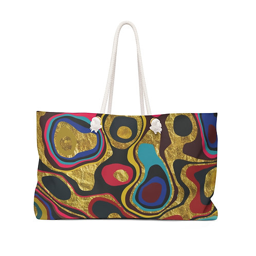 Liquid Rainbow Weekender Bag