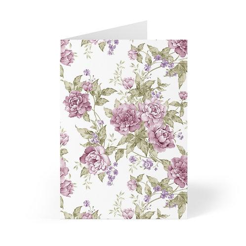 Lavender Roses Garden Greeting Cards (8 pcs)