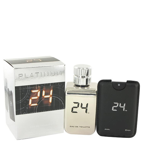 24 Platinum The Fragrance Eau De Toilette Spray + 0.8 oz Mini Pocket