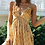 Thumbnail: V-Neck Printed Sling A-Line Ruffled High Waist Dress