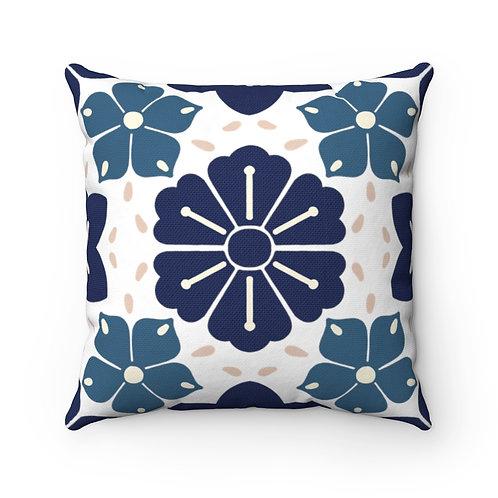 Japanese Decor #5 Spun Polyester Square Pillow