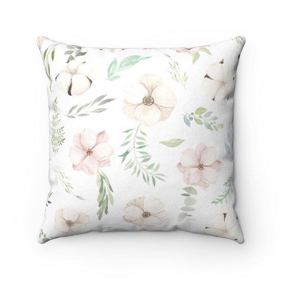 Blush Petals Spun Polyester Square Pillow
