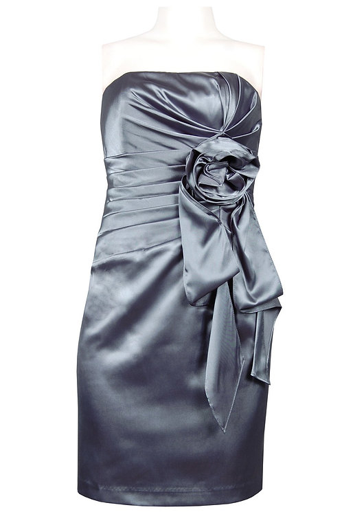 NV Couture (SIZE 10 ONLY) Strapless Charmeuse Satin Dress