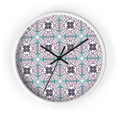 Lavender Squares Wall clock