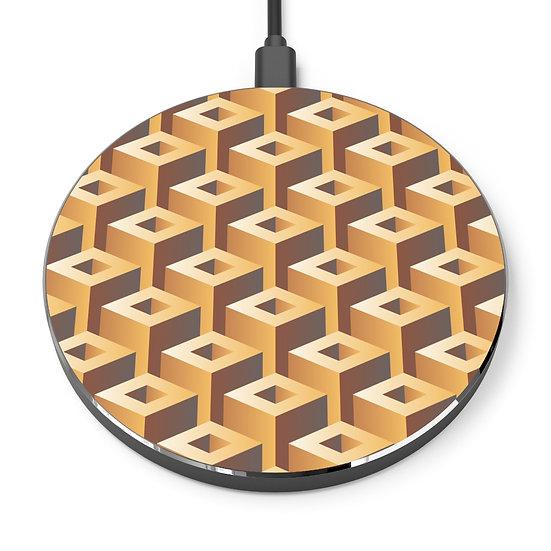 """Geometric """"Waffle"""" Wireless Charger"""