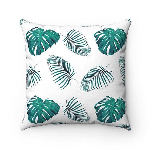 Palm Leaves Spun Polyester Square Pillow
