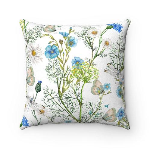 Botanica Faux Suede Square Pillow