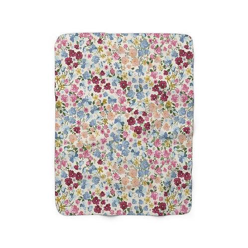 Field of Flowers Sherpa Fleece Blanket