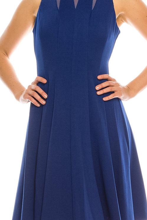 Gabby Skye Bubble Crepe Circle Skirt Dress