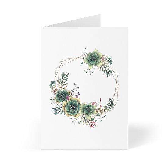 Desert Garden Wreath Greeting Cards (8 pcs)