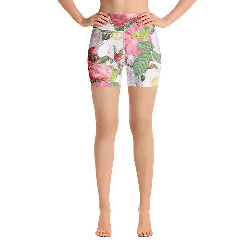 Blooming Yoga Shorts