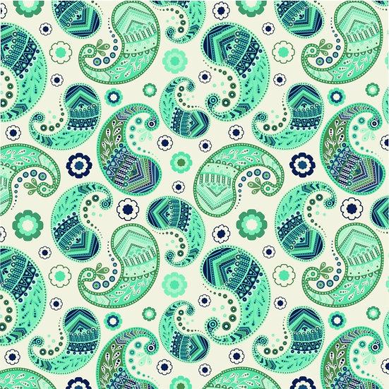 Paisley Green Microfiber Duvet Cover