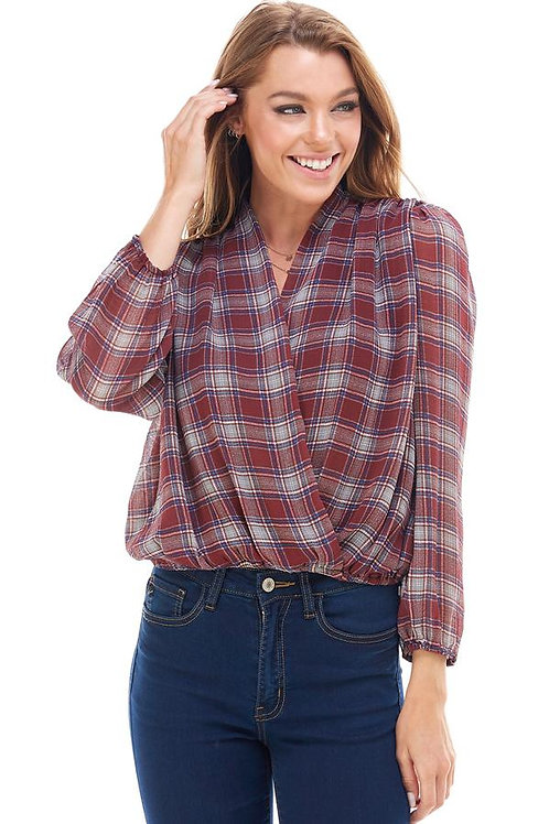 Plaid Surplus Blouse