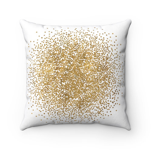 Gold Dust. Spun Polyester Square Pillow