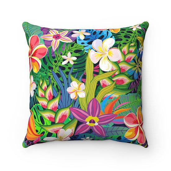 Hawaiian Rainbow Spun Polyester Square Pillow