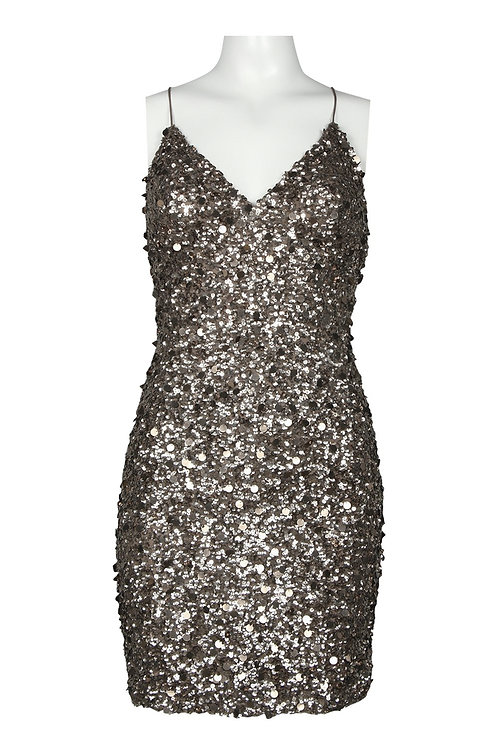 Adrianna Papell V-Neckline Sequin Sheath Dress