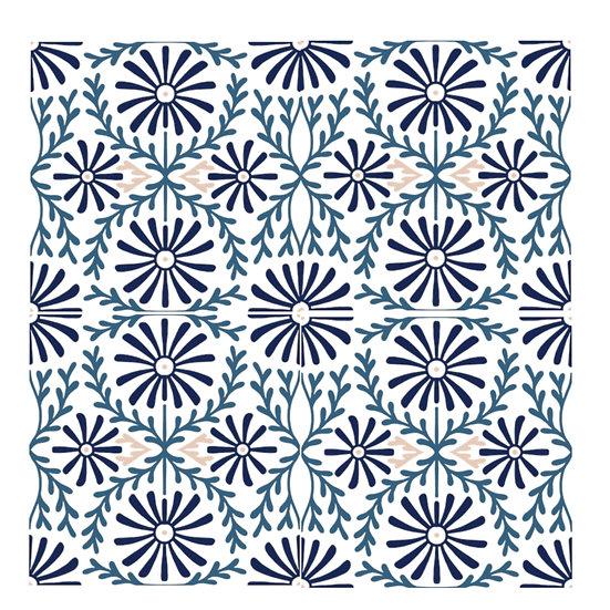Moorish Tile Microfiber Duvet Cover (Queen Only)