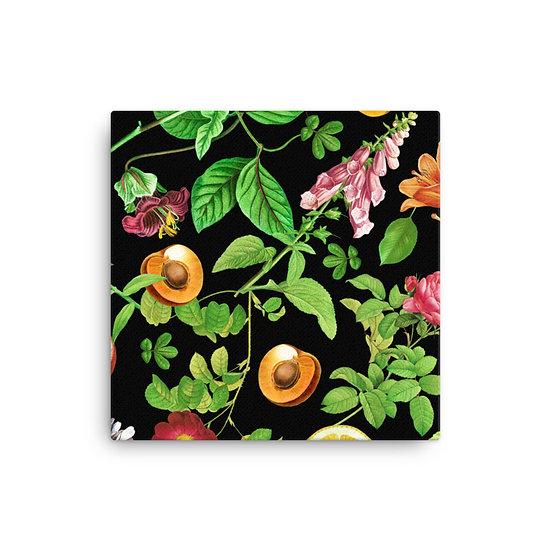 Nuts & Flowers Black Canvas