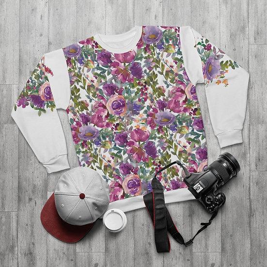 Lavender Floral  Sweatshirt