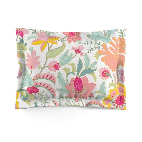 Blooming Pastels Microfiber Pillow Sham