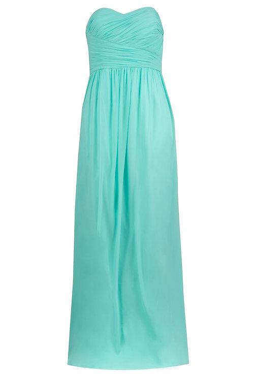 Donna Morgan Strapless Chiffon Gown