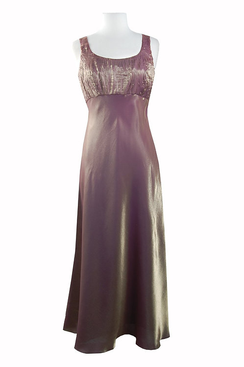 Alex Evenings Square Neck Empire Waist Metallic Dress with Bolero