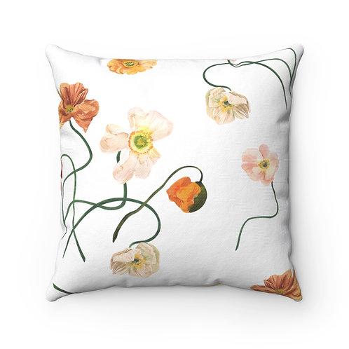 Minimal Poppy Spun Polyester Square Pillow