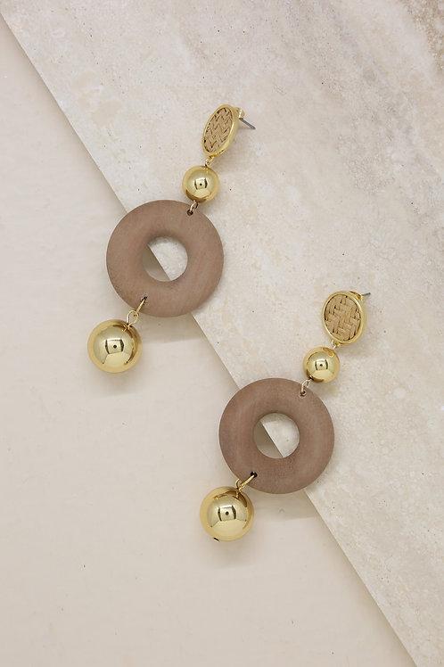 Beachwood 18k Gold Plated Statement Earrings
