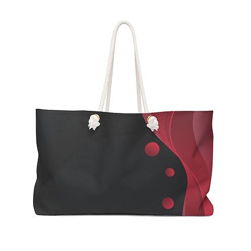 Hot Red Black Weekender Bag