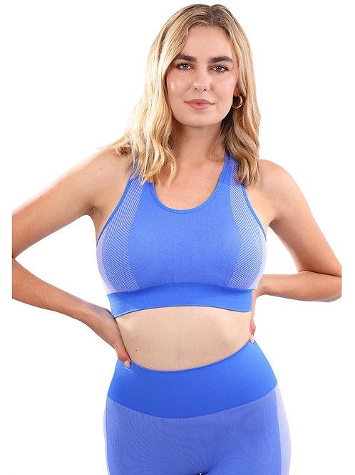 Arleta Seamless Sports Bra - Blue