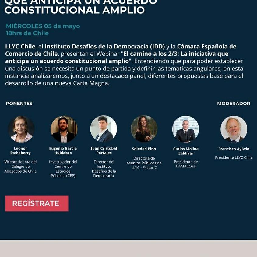 """Webinar """"El camino a los 2/3: La iniciativa que anticipa un acuerdo constitucional amplio"""""""