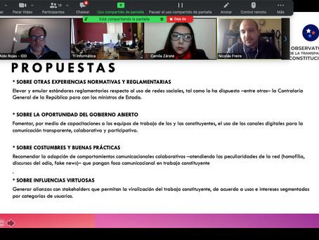 IDD presenta ante Convención Constitucional -comisión de comunicaciones, transparencia e información