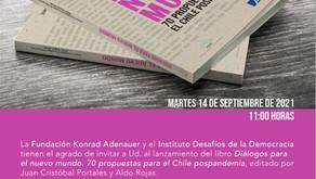 Lanzamiento libro Diálogos para un nuevo mundo. 70 propuestas para el Chile pospanemia