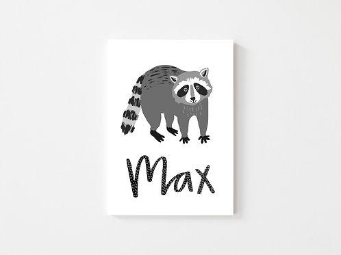Personalised Raccoon