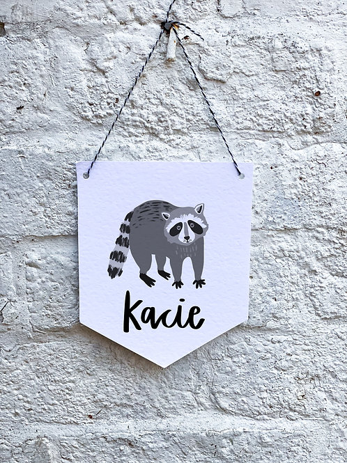 Raccoon Banner
