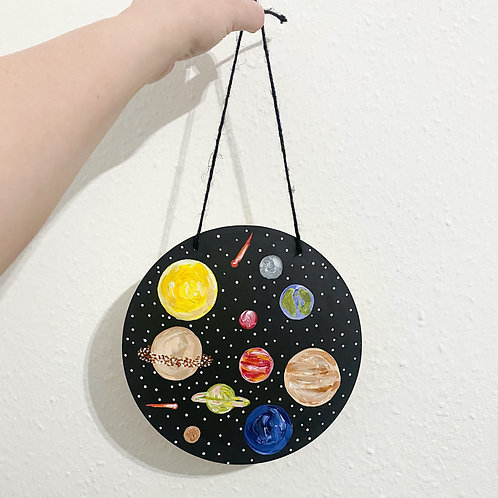 Space wooden circle