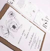 Rustic Floral invite set