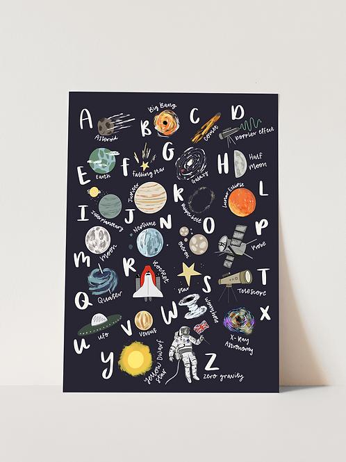 Space ABC - Print
