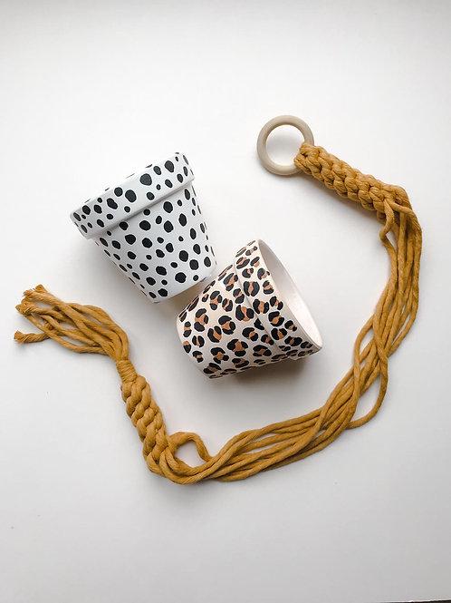 Leopard print Plant Pot