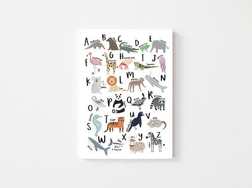 A4 Animal ABC