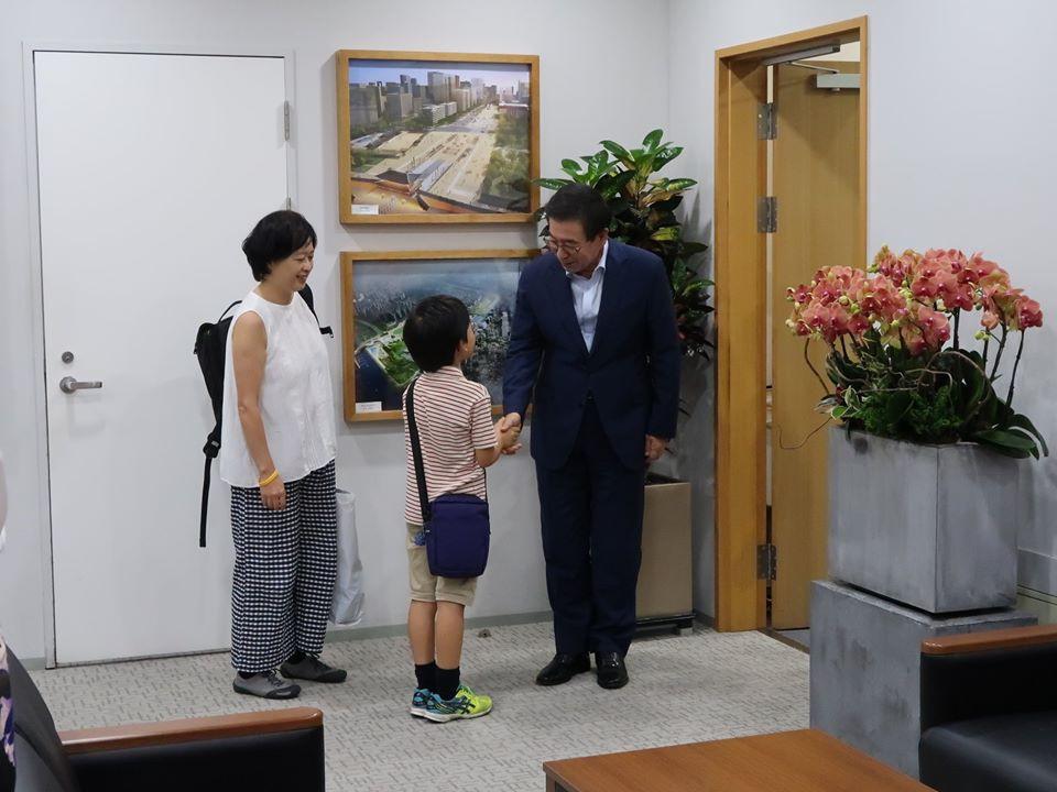 パク・ウォンスンソウル市長に会いました