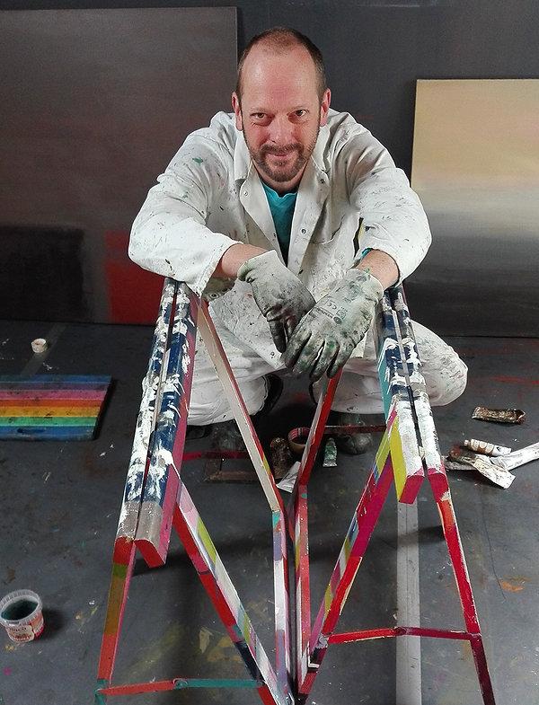 Benoit Delafontaine in zijn atelier