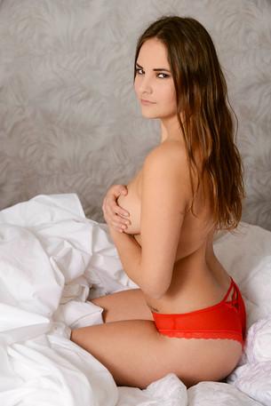 boudoir, bedekt naakt